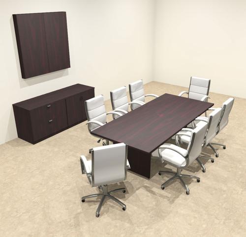 Modern Rectangular 8' Conference table, #OT-SUL-C23