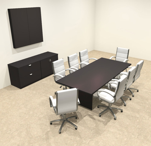 Modern Rectangular 8' Conference table, #OT-SUL-C24