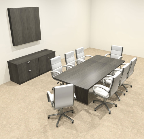 Modern Rectangular 8' Conference table, #OT-SUL-C25