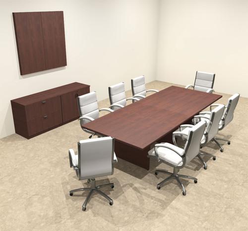 Modern Rectangular 10' Conference table, #OT-SUL-C27
