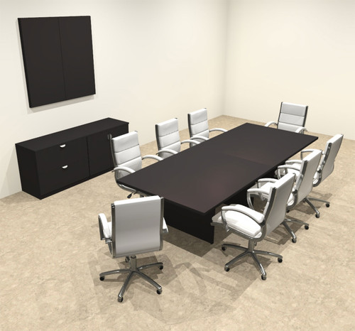 Modern Rectangular 10' Conference table, #OT-SUL-C29