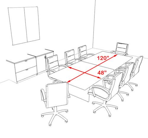 Modern Rectangular 10' Conference table, #OT-SUL-C30