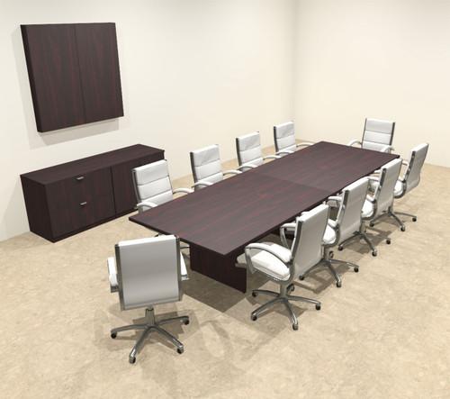 Modern Rectangular 12' Conference table, #OT-SUL-C33