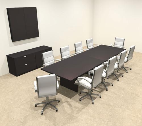 Modern Rectangular 12' Conference table, #OT-SUL-C34