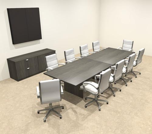 Modern Rectangular 12' Conference table, #OT-SUL-C35