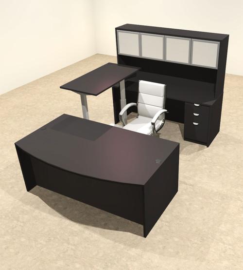 5PC U Shape Modern Executive Office Desk w/Height Adjustable Desk, OT-SUL-UH40