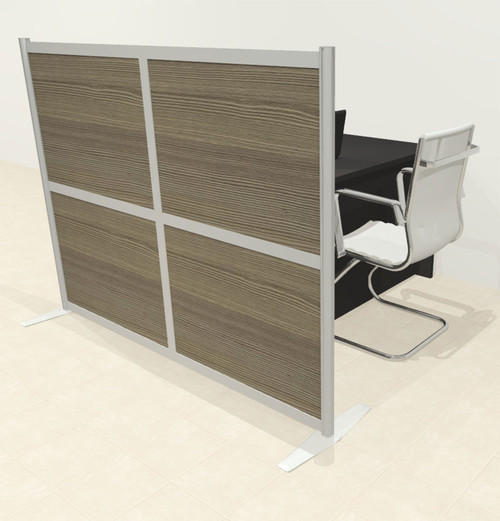 One Loft Modern Office Home Aluminum Frame Partition / Divider / Sneeze Guard, #UT-ALU-P11