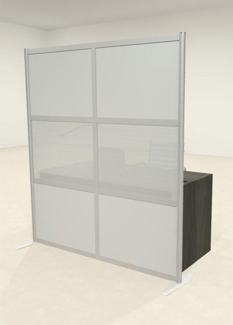 One Loft Modern Office Home Aluminum Frame Partition / Divider / Sneeze Guard, #UT-ALU-P13-B