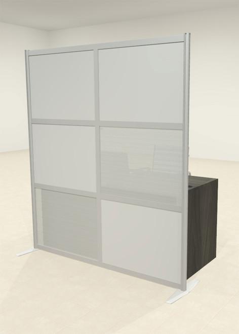 One Loft Modern Office Home Aluminum Frame Partition / Divider / Sneeze Guard, #UT-ALU-P13-C