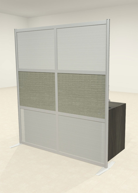 One Loft Modern Office Home Aluminum Frame Partition / Divider / Sneeze Guard, #UT-ALU-P14-B