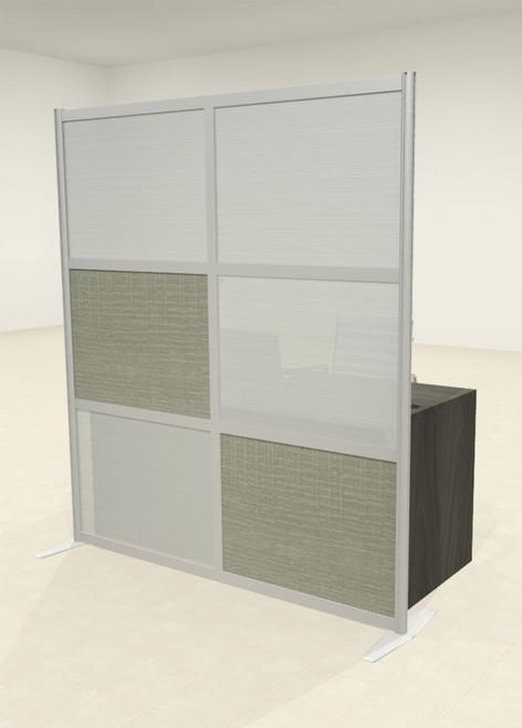 One Loft Modern Office Home Aluminum Frame Partition / Divider / Sneeze Guard, #UT-ALU-P14-C