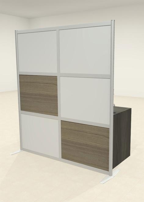 One Loft Modern Office Home Aluminum Frame Partition / Divider / Sneeze Guard, #UT-ALU-P18-C