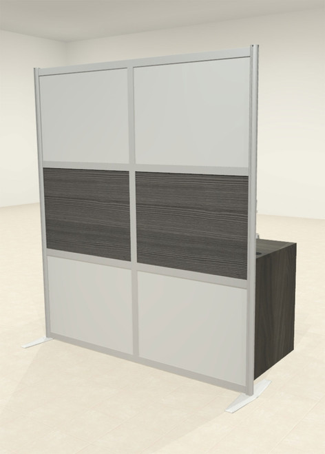 One Loft Modern Office Home Aluminum Frame Partition / Divider / Sneeze Guard, #UT-ALU-P19-B