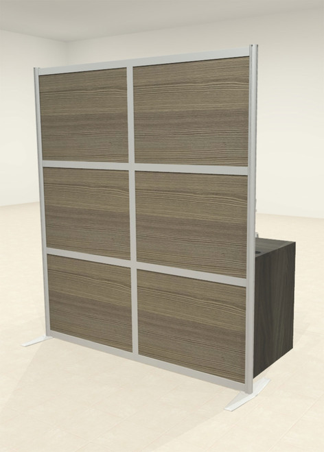 One Loft Modern Office Home Aluminum Frame Partition / Divider / Sneeze Guard, #UT-ALU-P23