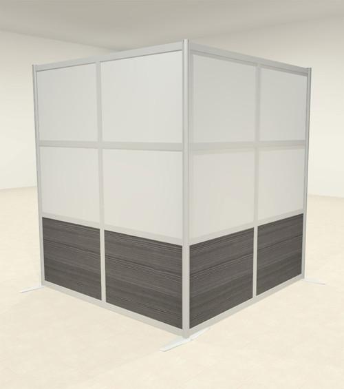 One L Shaped Loft Modern Office Home Aluminum Frame Partition / Divider / Sneeze Guard, #UT-ALU-P43-A