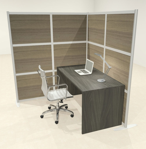One L Shaped Loft Modern Office Home Aluminum Frame Partition / Divider / Sneeze Guard, #UT-ALU-P47