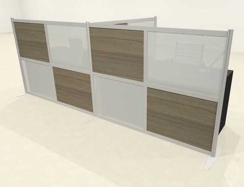 One T Shaped Loft Modern Office Home Aluminum Frame Partition / Divider / Sneeze Guard, #UT-ALU-P51-C