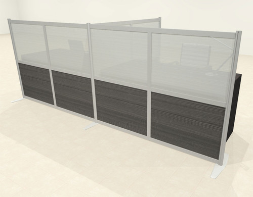 One T Shaped Loft Modern Office Home Aluminum Frame Partition / Divider / Sneeze Guard, #UT-ALU-P52-A