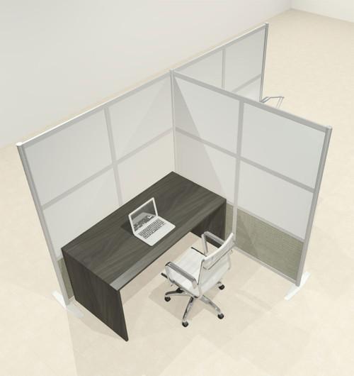 One T Shaped Loft Modern Office Home Aluminum Frame Partition / Divider / Sneeze Guard, #UT-ALU-P65-C