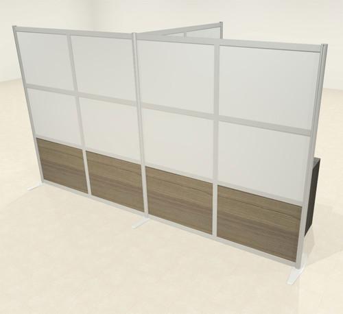 One T Shaped Loft Modern Office Home Aluminum Frame Partition / Divider / Sneeze Guard, #UT-ALU-P66-A