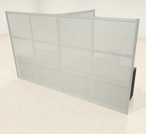 One T Shaped Loft Modern Office Home Aluminum Frame Partition / Divider / Sneeze Guard, #UT-ALU-P68