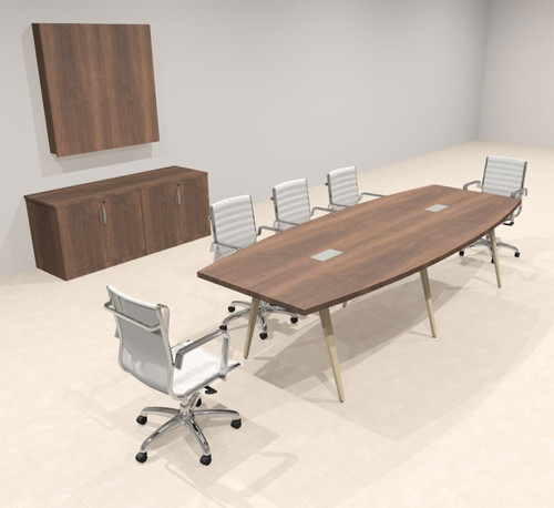 Modern Boat shaped 10' Feet Conference Table, #OF-CON-CW10