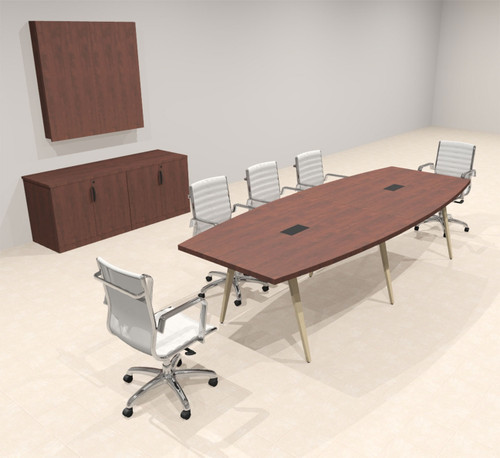 Modern Boat shaped 10' Feet Conference Table, #OF-CON-CW11