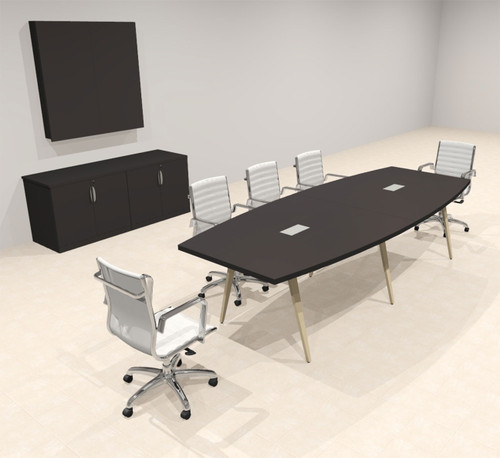 Modern Boat shaped 10' Feet Conference Table, #OF-CON-CW13
