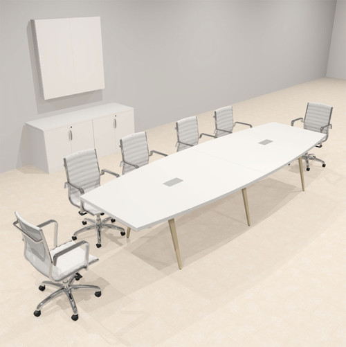 Modern Boat shaped 12' Feet Conference Table, #OF-CON-CW15