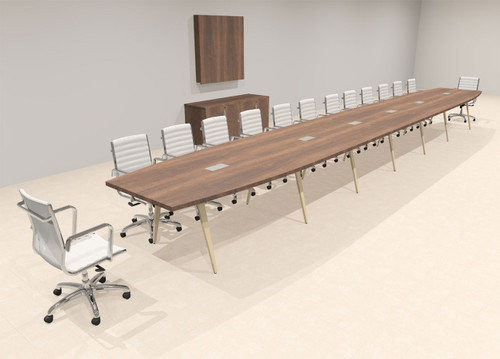 Modern Boat shaped 28' Feet Conference Table, #OF-CON-CW73