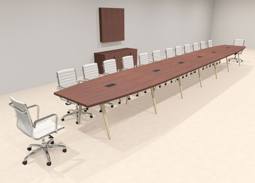 Modern Boat shaped 28' Feet Conference Table, #OF-CON-CW74