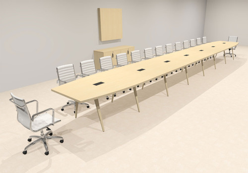 Modern Boat shaped 30' Feet Conference Table, #OF-CON-CW79