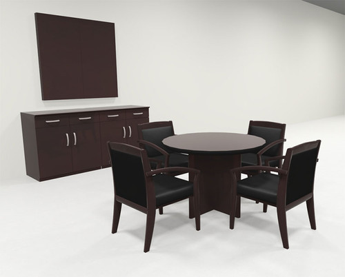 Modern Contemporary Round Veneer Office Conference Table, #RO-COR-C24