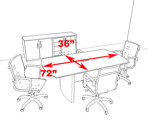 Modern Contemporary 6' Feet Conference Table, #RO-NAP-C2