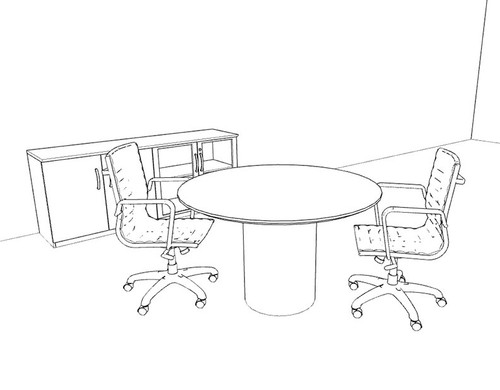 Modern Contemporary Round Conference Table, #RO-NAP-C31