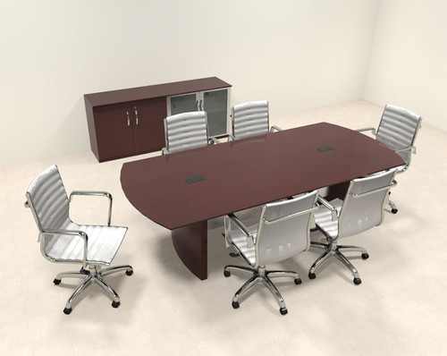 Modern Contemporary 8' fEET Conference Table, #RO-NAP-C6