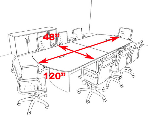 Modern Contemporary 10' Feet Conference Table, #RO-NAP-C9