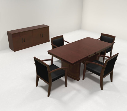 Traditional Rectangular 6' Feet Office Conference Table, #RO-SOR-C1