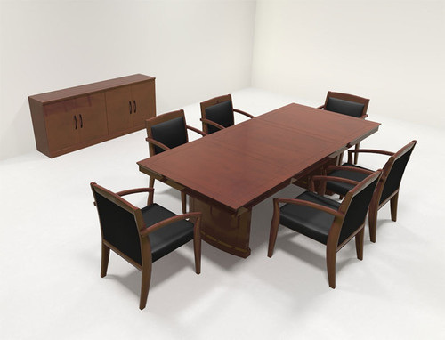 Traditional Rectangular 8' Feet Office Conference Table, #RO-SOR-C2