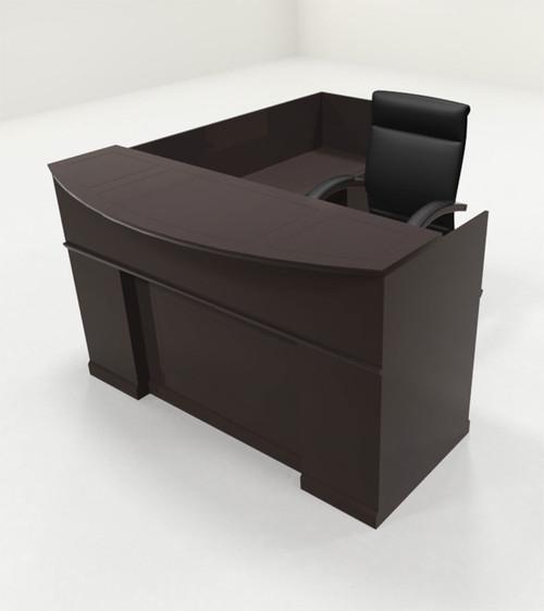 4pc Traditional L Shaped Executive Counter Reception Desk Set, #RO-SOR-R4