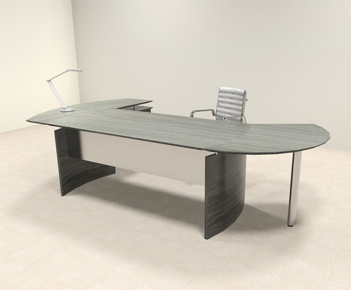 3pc Modern Contemporary Oval Executive Office Desk Set, #MT-MED-O1