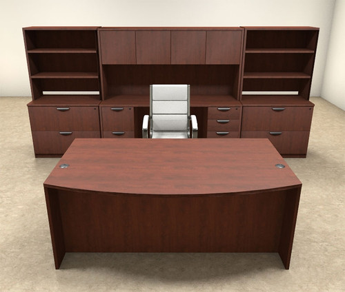 10pc Fan Front Modern Executive Office Desk Set, #OT-SUL-D10