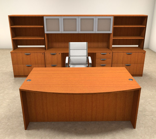 10pc Fan Front Modern Executive Office Desk Set, #OT-SUL-D13