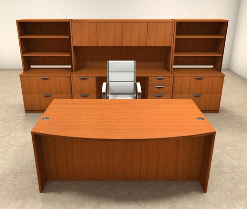 10pc Fan Front Modern Executive Office Desk Set, #OT-SUL-D9