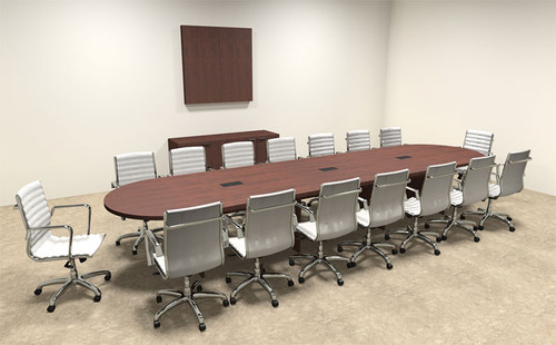 Modern Racetrack 16' Feet Conference Table, #OF-CON-C17