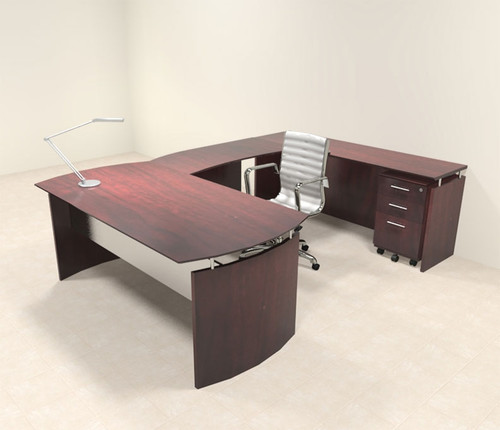 4pc Modern Contemporary U Shaped Executive Office Desk Set, #MT-MED-U2
