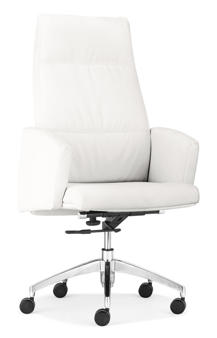 Chieftain High Back Office Chair White, ZO-206081