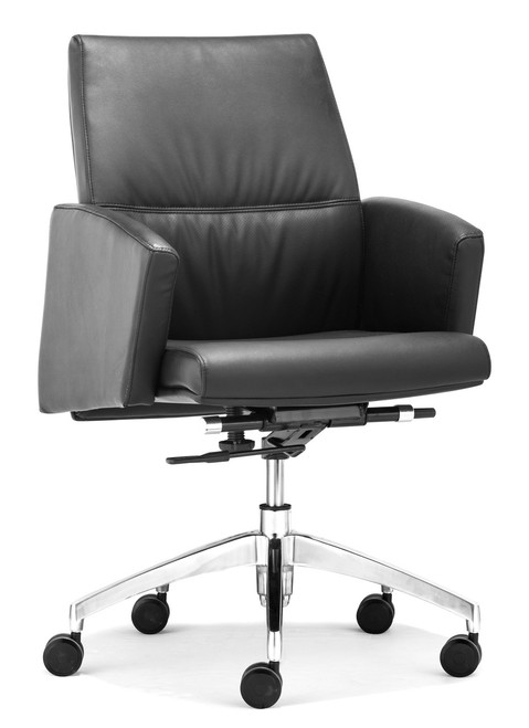 Chieftain Low Back Office Chair Black, ZO-206085