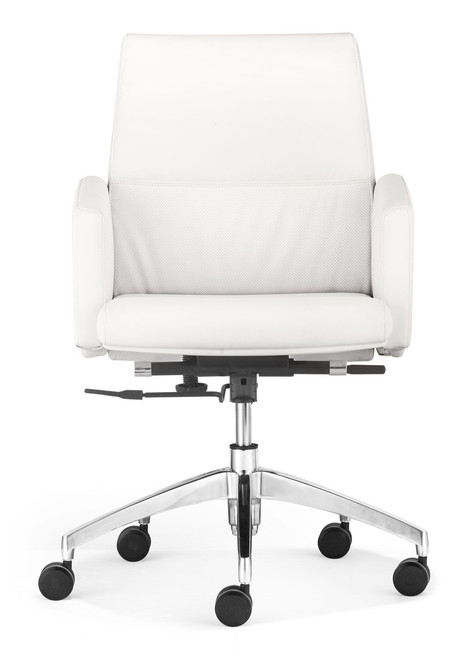 Chieftain Low Back Office Chair White, ZO-206086