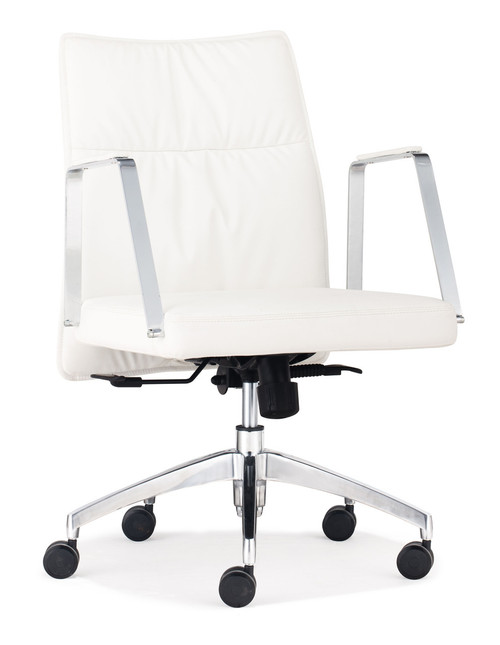 Dean Low Back Office Chair White, ZO-206137